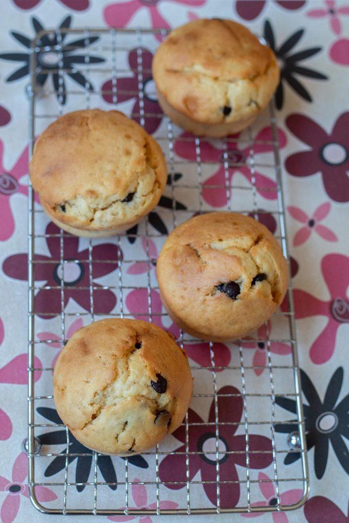 Muffins au sirop d'érable, flocons d'avoine et chocolat