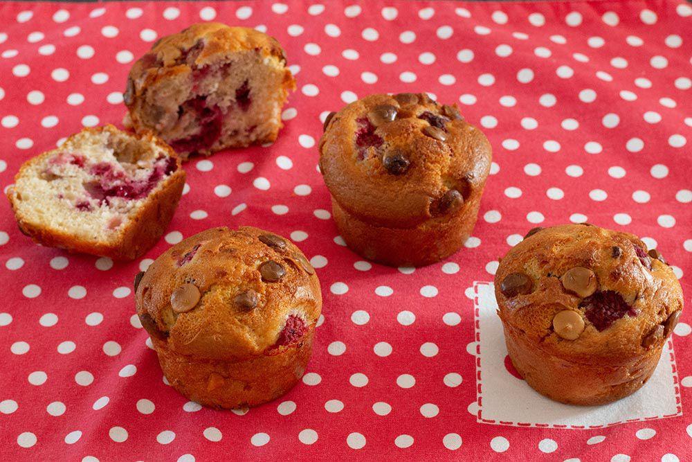 Muffins moelleux aux framboises