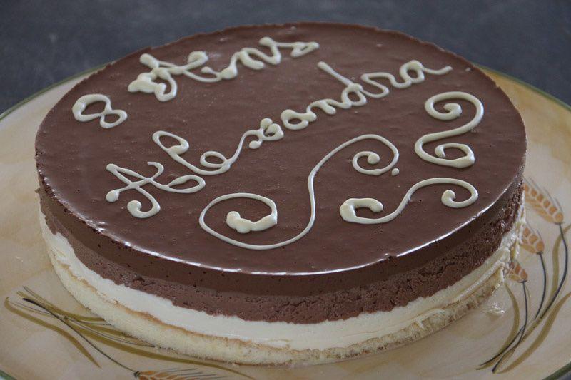 Bavarois aux trois chocolats (au Thermomix)