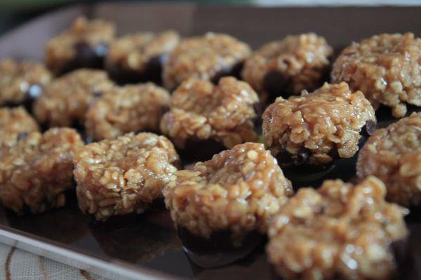 Bouchées au caramel et aux flocons d'avoine
