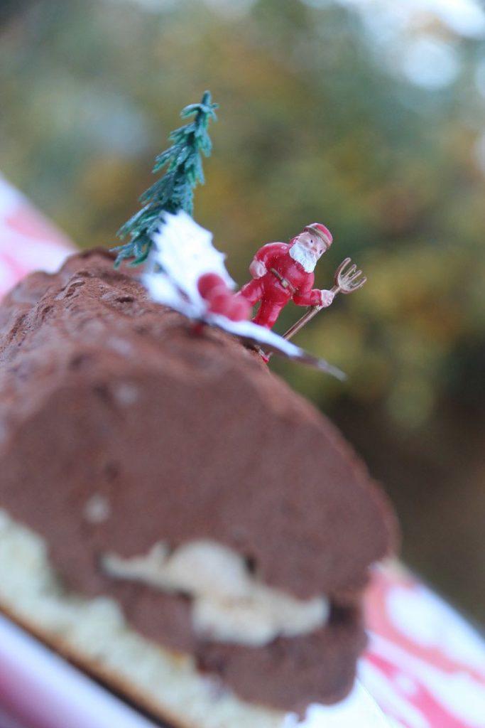 Bûche Chocolat Caramel et crème brûlée