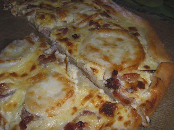 Pizza façon Flammenküche