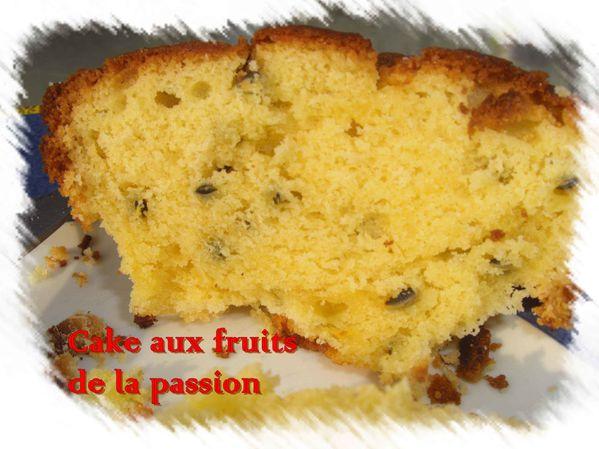 Cake aux fruits de la passion