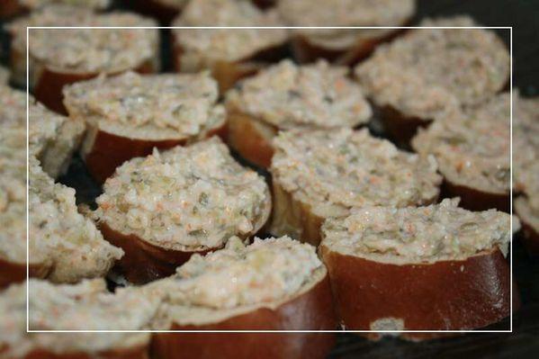 Canapés de surimi