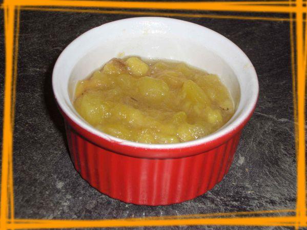 Compote pommes - bananes à la vanille