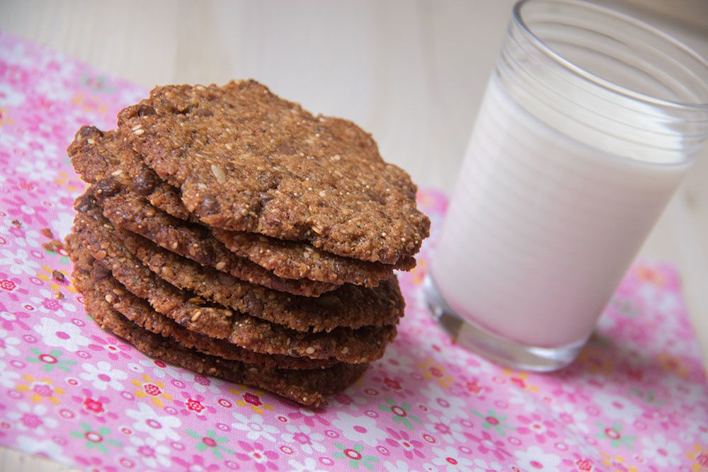 Cookies dentelle aux petites graines