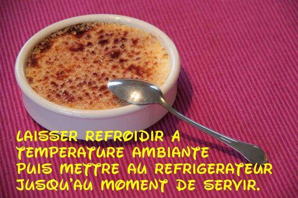 Crème brûlée sur son lit de Spéculoos