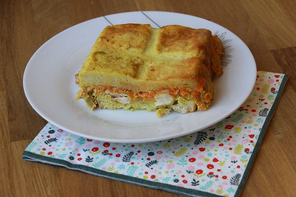 Croque tablette poulet poireaux carottes