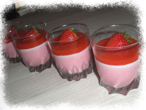 Douceur de Panna Cotta aux fraises
