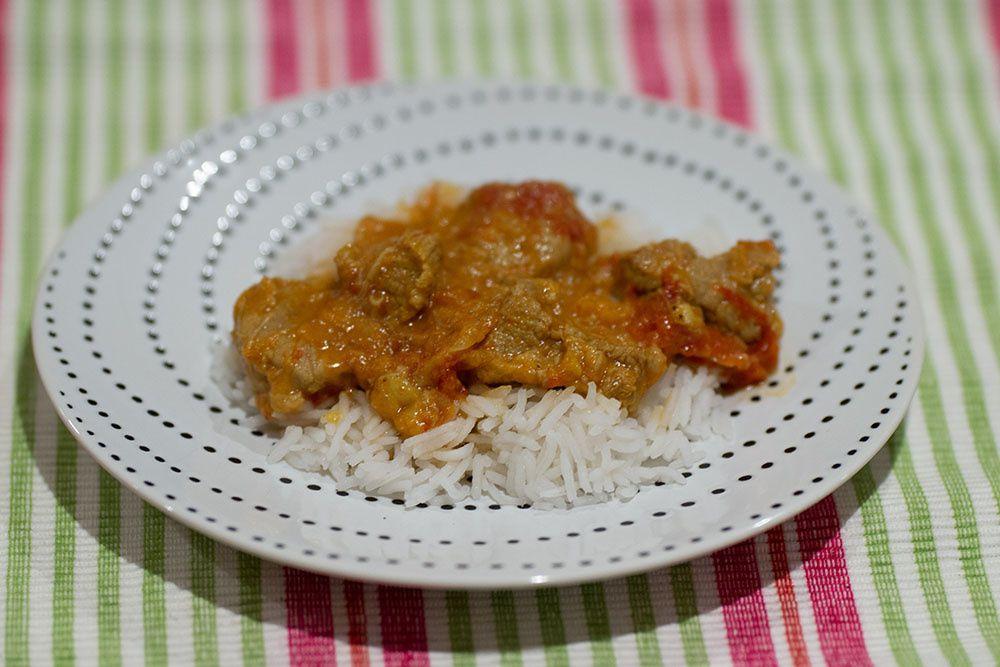 Émincé de veau au curry et à la pomme