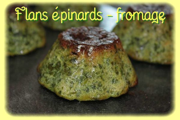 Flans épinards - fromage