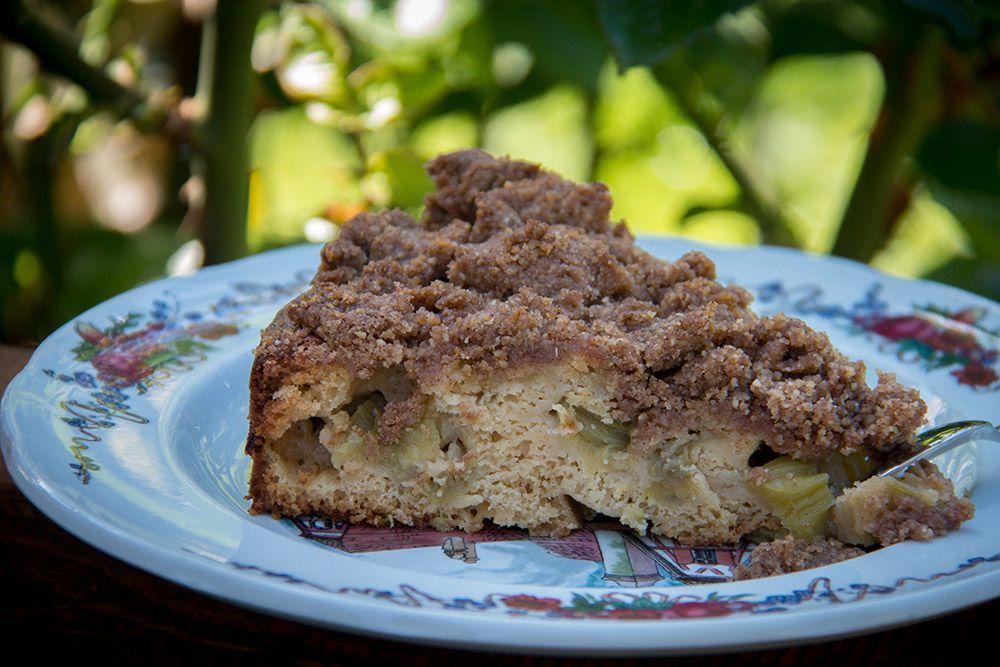 Gâteau Streussel à la Rhubarbe