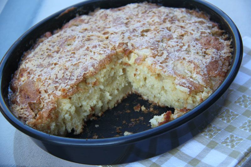 Gâteau aux pommes moelleux et caramélisé (Gâteau Bernadette)