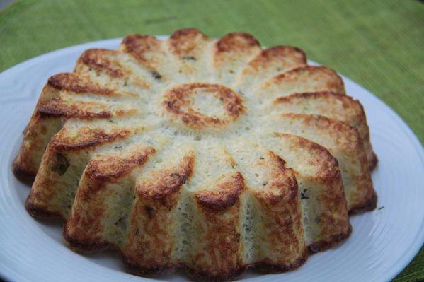 Gâteau de riz aux courgettes