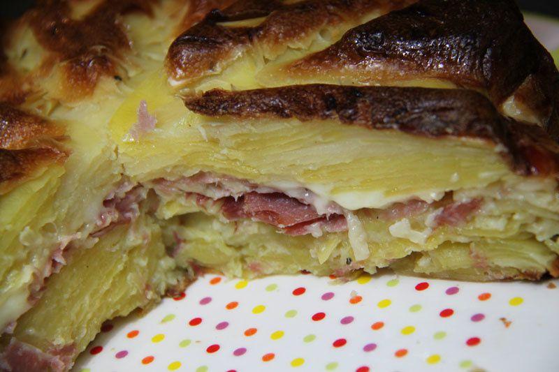 Gâteau invisible pommes de terre - raclette