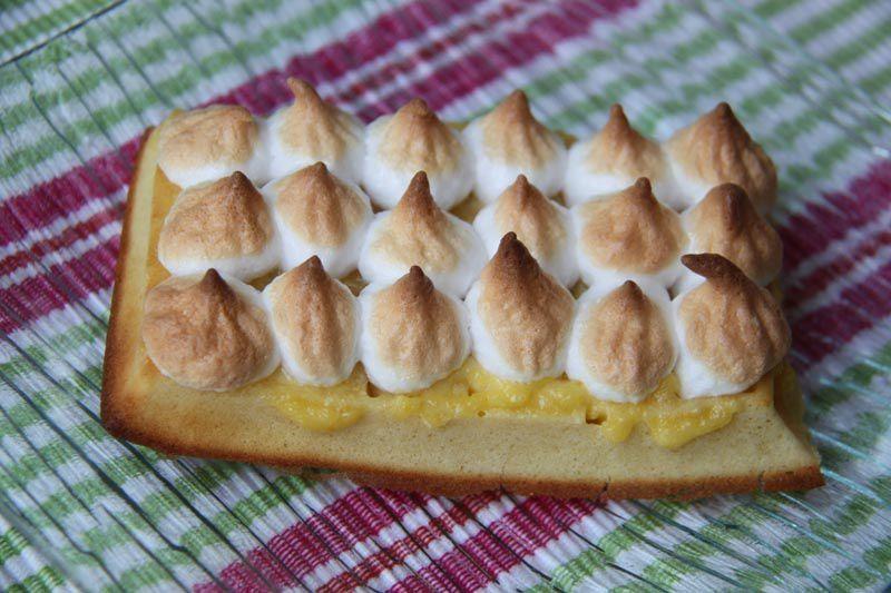 Gaufres au citron meringuées