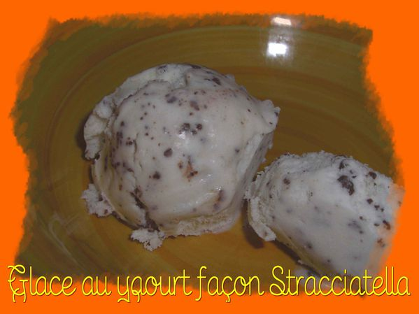 Glace au yaourt façon Stracciatella