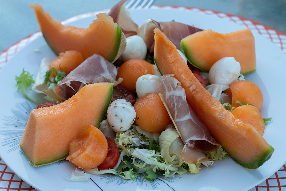 Assiette italienne au melon