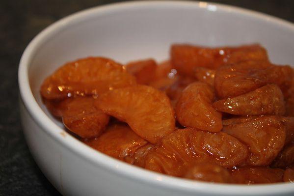 Mandarines au sirop
