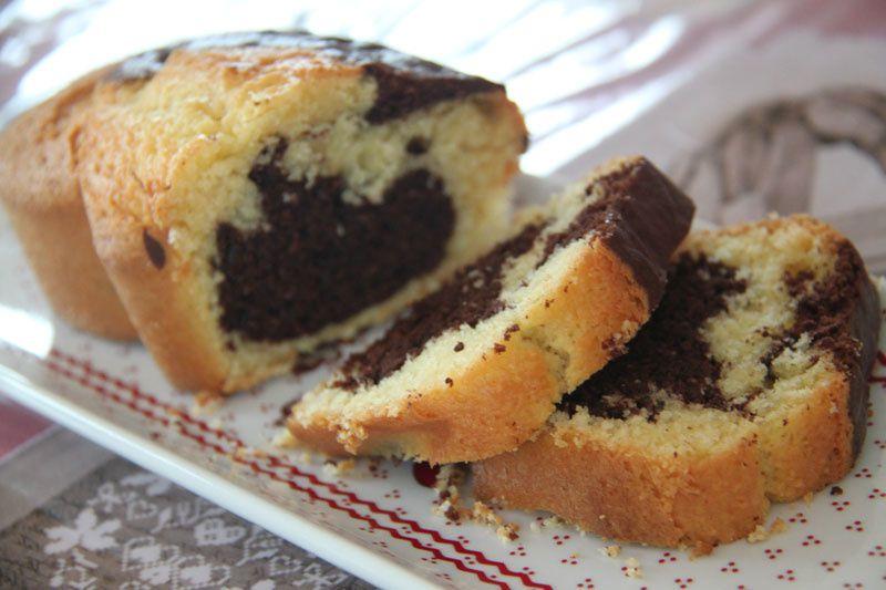 Marbré Chocolat noir et Noix de coco