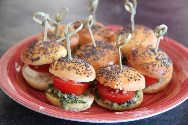 Mini burgers pour l'apéro