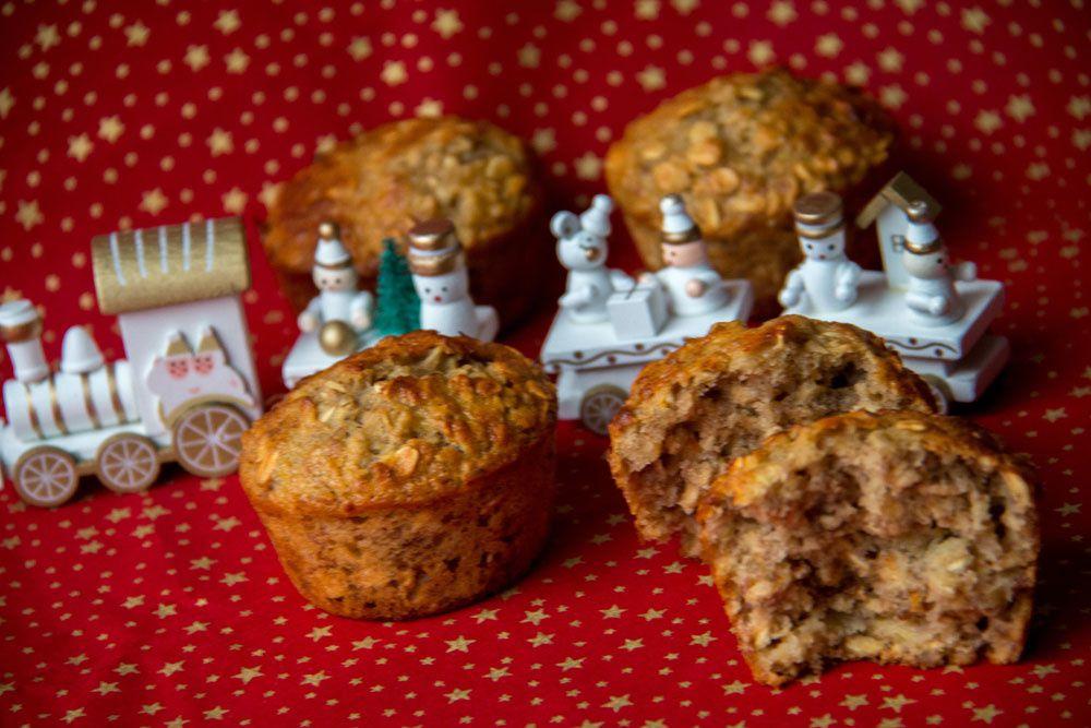 Muffins Banane, Orange et noix