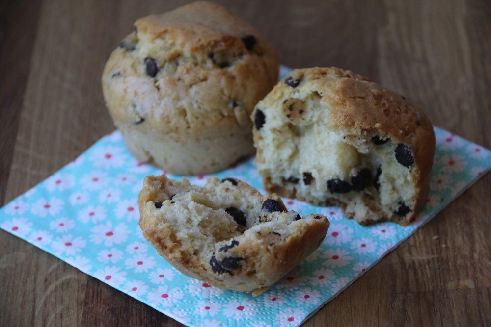 Muffins à la noix de coco et aux pépites de chocolat (au Thermomix ou sans)
