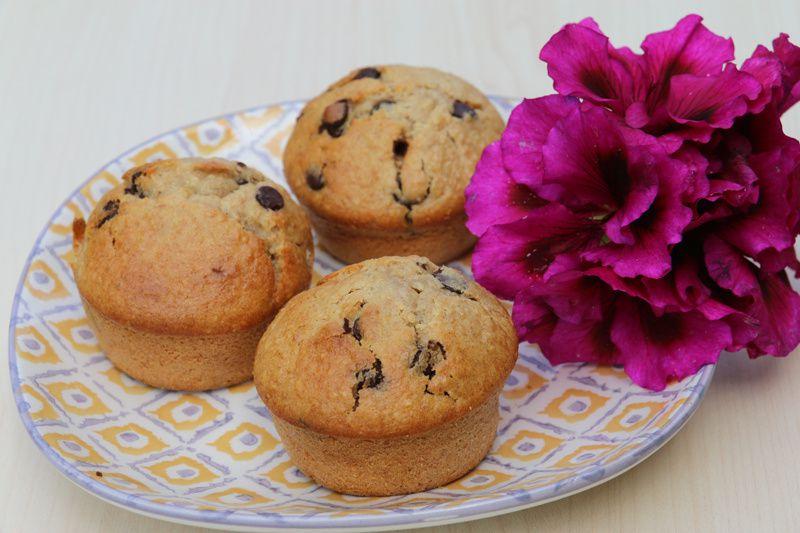 Muffins très moelleux à la banane et aux pépites de chocolat