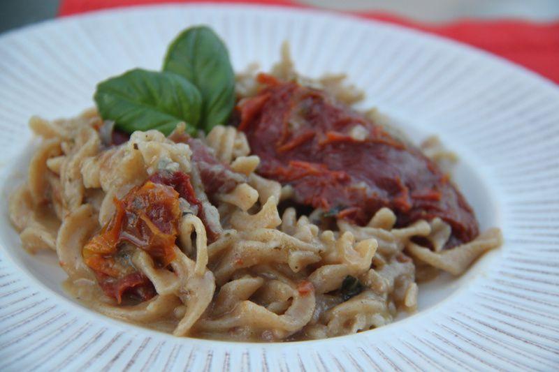 One-Pot Pasta Pancetta Tomates séchées