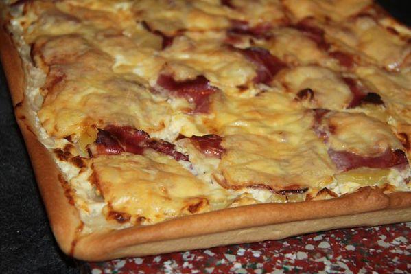 Pizza façon Raclette