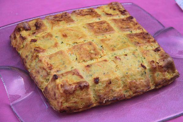 Quiche sans pâte aux carottes, courgette et curry