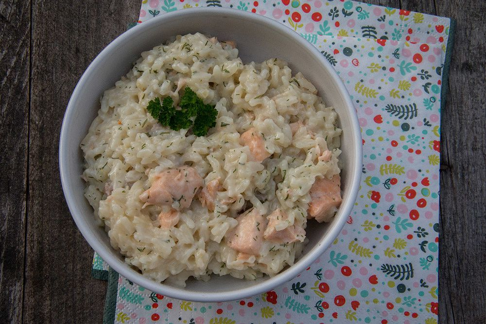 Risotto au saumon (au Cookeo)