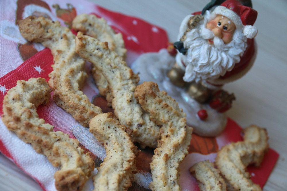 Spritzbredele à la noisette (Bredeles de Noël)