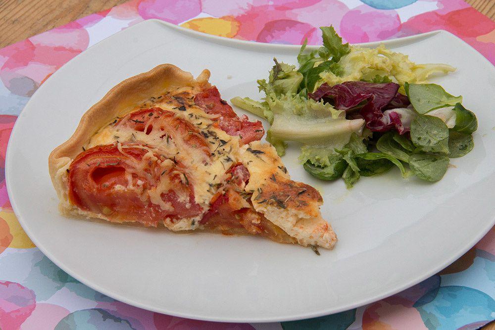 Tarte à la tomate et au mascarpone