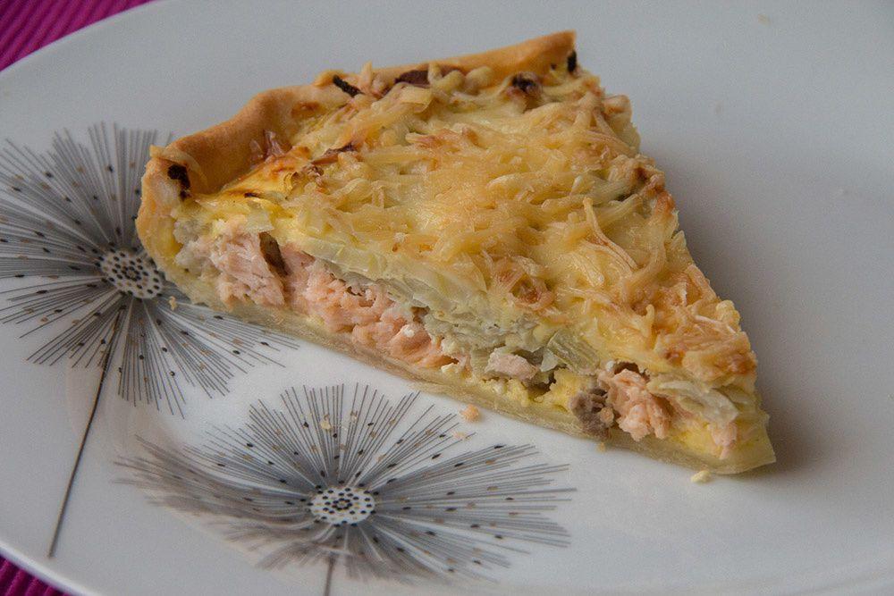Tarte au fenouil et au saumon (au Thermomix ou sans)