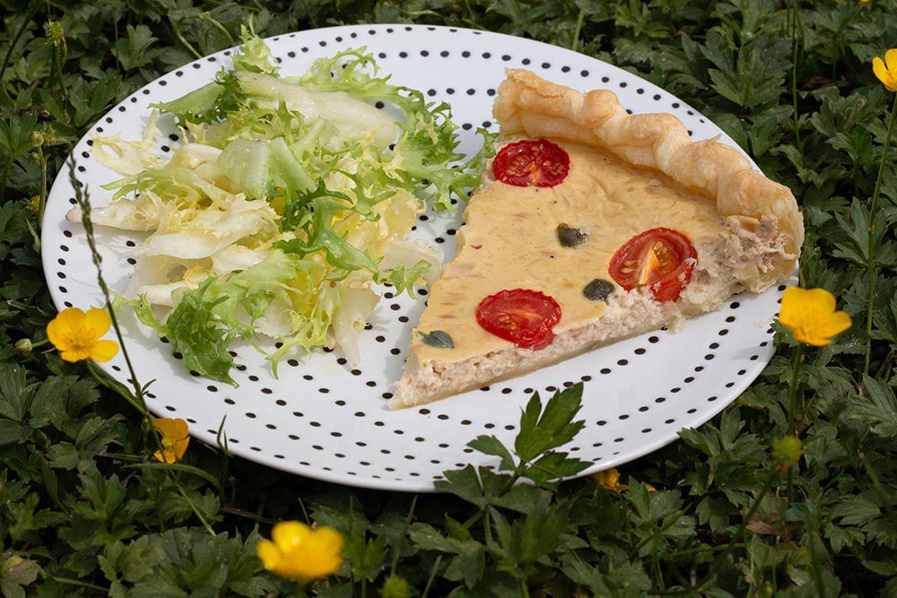 Tarte au thon et tomates cerises (recette Weight Watcher)