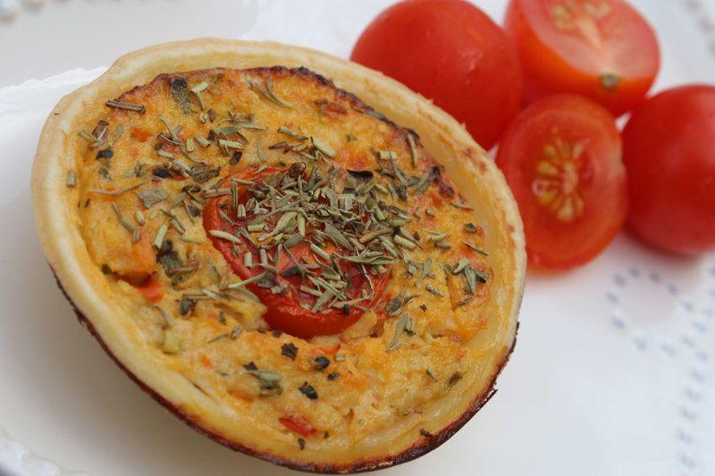 Tartelettes tomates, courgette et ciboulette