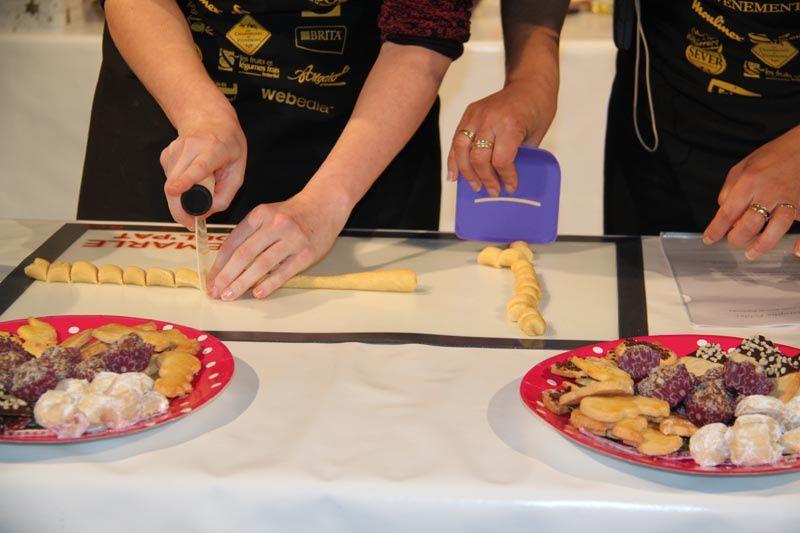 Vanille Kipferl selon Christophe Felder démo salon du blog culinaire Soissons
