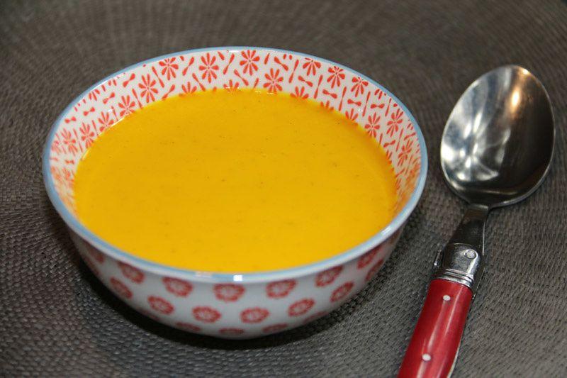 Velouté au potimarron, à la carotte et au Kiri (au Thermomix ou non)