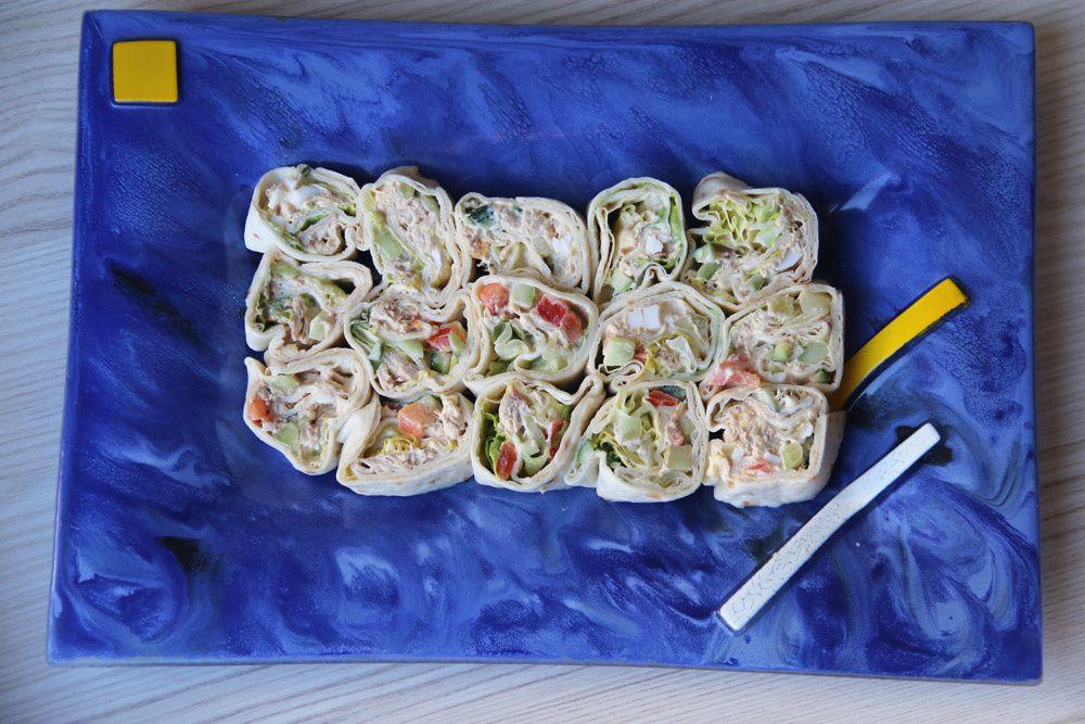 Wrap au thon, oeuf dur et mayonnaise