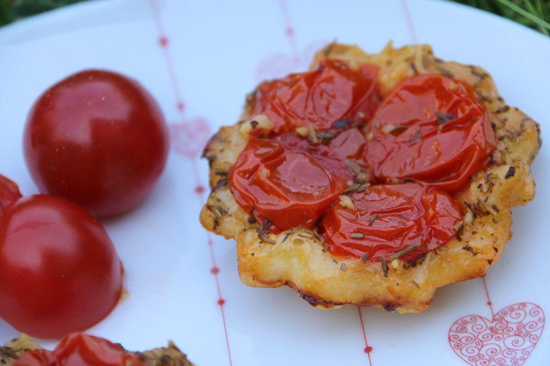 Tatins aux tomates cerises