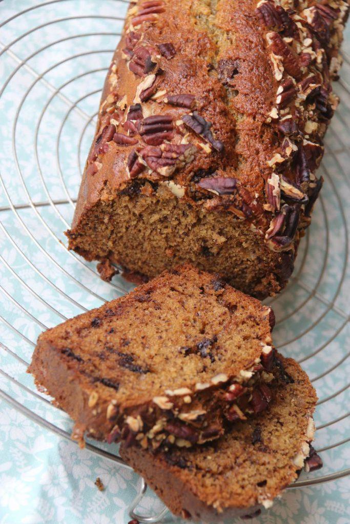 Banana Bread aux Eclats de Chocolat et Croûte de Noix
