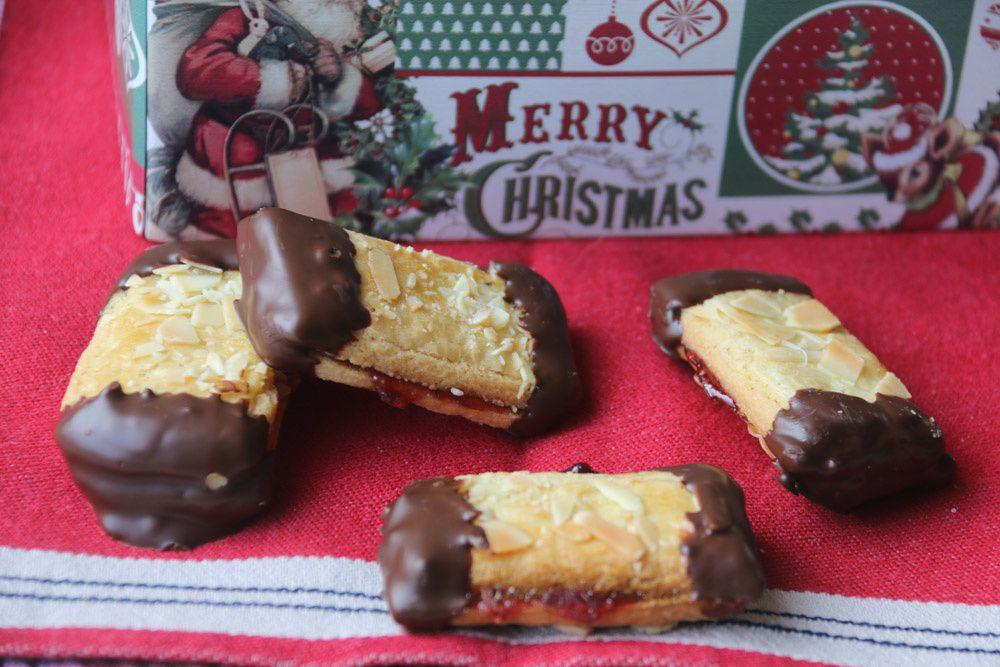 Bâtonnets amandes et chocolat (Bredele - Petits gâteaux de Noël)