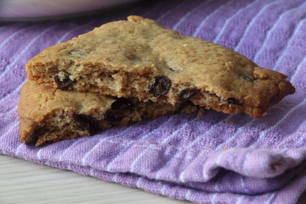 Biscuits à la farine de châtaigne et aux pépites de chocolat