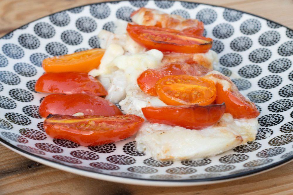 Cabillaud aux tomates cerises et au basilic de Jamie Oliver