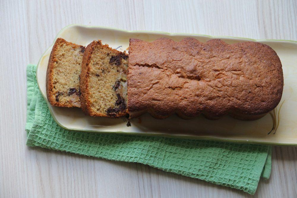 Cake à la banane et au chocolat de Sophie Dudemaine