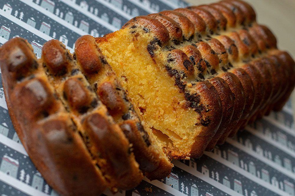 Cake à l'orange et aux pépites de chocolat