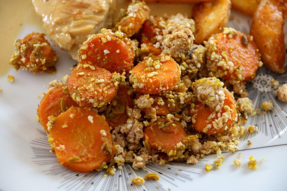 Crumble de carottes épicées