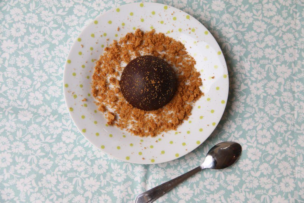 Dômes chocolat noir et Speculoos (recette Tupperware)