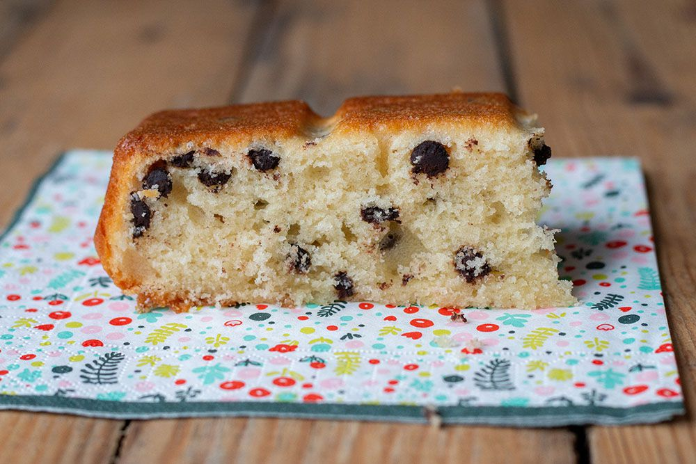 Gâteau au yaourt léger aux pépites de chocolat